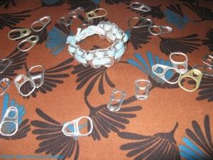 bracelet capsules et tissus récup'