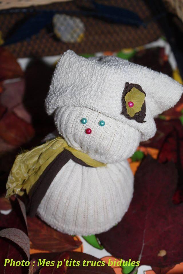 bonhomme de neige chausette