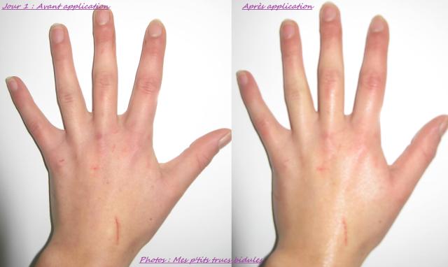 Lotion mains jour 1