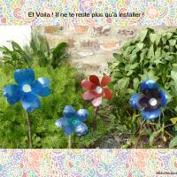 DIY Récup' : Fleurs déco en bouteilles plastiques