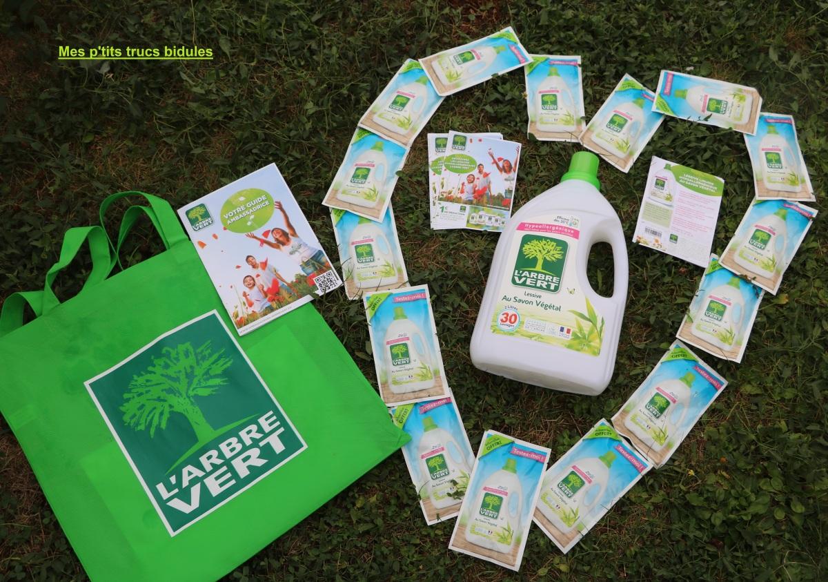 Ambassadrice L'Arbre Vert , une lessive au savon Végétal efficace à froid !