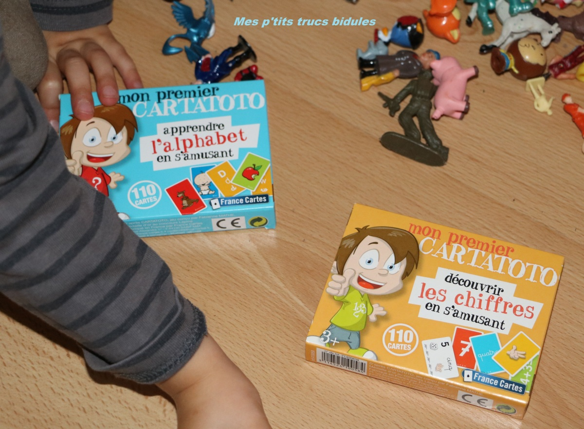 """Mes premiers Cartatoto de chez France Cartes : """"Apprendre l'alphabet et les chiffres en s'amusant"""" + concours ! #osonsjouer"""