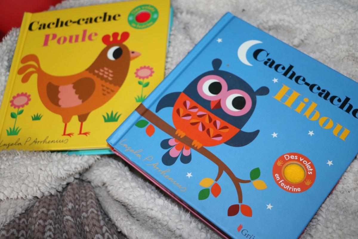 """""""Cache cache Hibou """" et """"Cache cache  poule"""" de chez Gründ"""