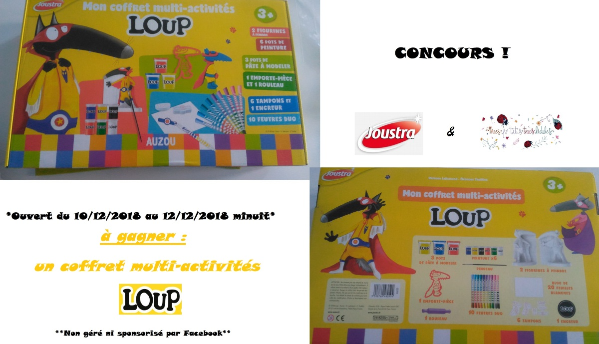 Mon coffret multi-activité LOUP de Joustra + concours