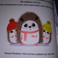 """""""Le  merveilleux noël de Frozzy"""" des éditions Langue au chat."""